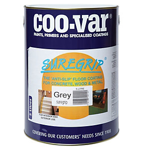 Coo-var Suregrip Anti-slip Floor Paint Grey 5L