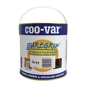 Coo-var Suregrip Anti-slip Floor Paint Grey 2.5L