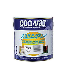 Coo-var Suregrip Anti-slip Floor Paint White 2.5L