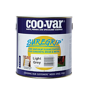 Coo-Var Suregrip Anti-Slip Floor Paint Light Grey 2.5L