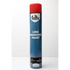 4Trade Line Marking Paint Red 750ml