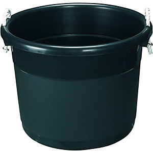 Wickes Storage Bucket Black 39L