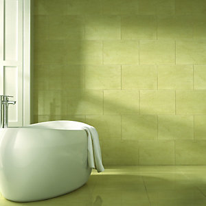 Wickes Marcello Beige Gloss Ceramic Wall & Floor Tile 450x450mm