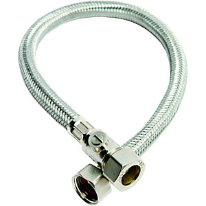 Wickes Flexible Connector With Isolating Valve 15 x 12 x 500mm