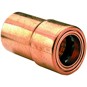 Wickes Copper Push Fit Reducer 22 x 15mm