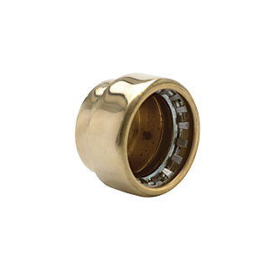 Wickes Copper Pushfit Stop End 15mm Pack 2