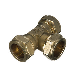 Wickes Compression Equal Tee 15mm