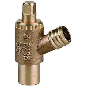 Wickes Brass Drain Off Stop Cock