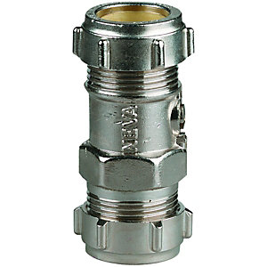 Wickes Nickel Finsh Straight Service Valve 22mm