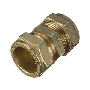 Wickes Compression Straight Coupling 15mm Pack 2