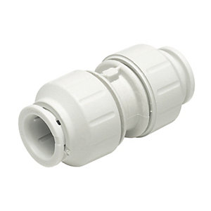 John Guest Speedfit Straight Coupler 15mm PK 10