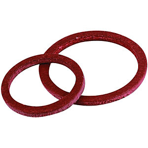 Wickes Fibre Washers 8 x 12mm & 2 x 19mm Pack 10