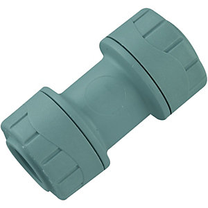 Wickes Polyplumb Straight Coupler 15mm
