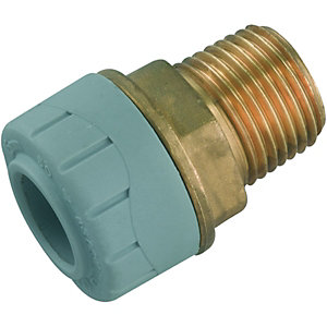Wickes Polyplumb Male Adaptor 12 x 15mm
