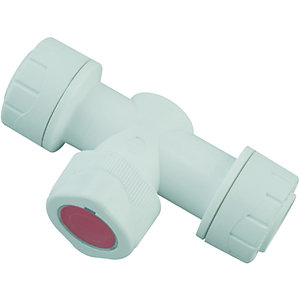 Wickes Polyplumb Shut Off Valve Warm 15mm