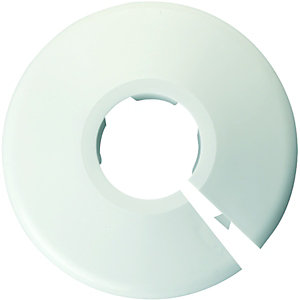 Wickes Pipe Collars White 22mm (Pack of 5)