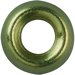 Wickes Brass Screw Cup Washers No.10 Pack 20