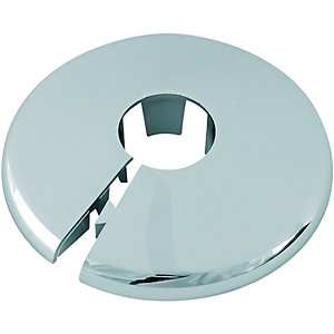 Wickes Pipe Collars Chrome 15mm (Pack of 5)