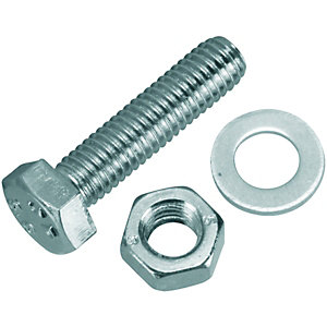 Wickes Hexagon Set Screws M5 x20mm Pack 20