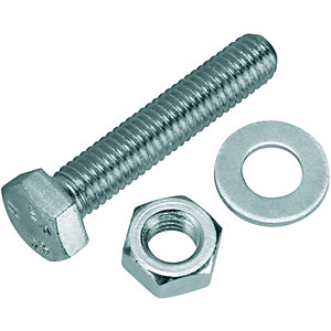 Wickes Hexagon Set Screws M8x40mm Pack 10