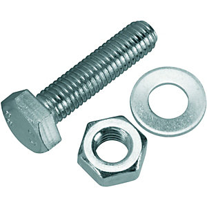 Wickes Hexagon Set Screws M10x40mm Pack 6
