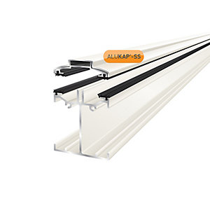 Clear Amber Alukap-ss Low Profile Bar 4.8m White