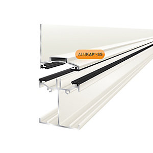 Clear Amber Alukap-ss Low Profile Wall Bar 4.8m White