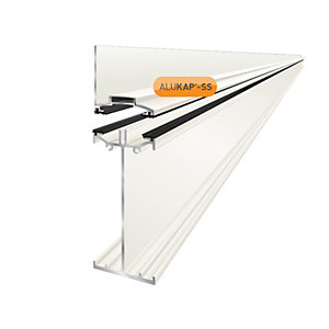 Clear Amber Alukap-SS High Span Wall Bar 4.8m White