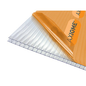 Clear Amber Axiome Clear 6mm Twinwall 1050mm x 3000mm