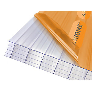 Clear Amber Axiome Clear 25mm Polycarbonate 840mm x 3500mm