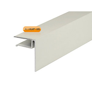 Clear Amber Alukap-xr End Stop Bar White 10mm x 3000mm