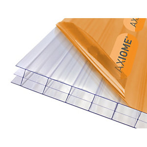 Clear Amber Axiome Clear 16mm Polycarbonate 690mm x 5000mm