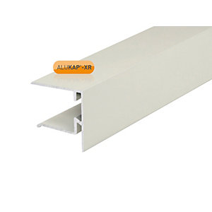 Clear Amber Alukap - Xr 25mm End Stop Bar 3600mm White