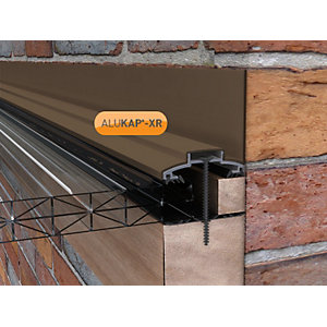 Clear Amber Alukap-xr 45mm Wall Bar 3.6m No Rafter Gasket Brown