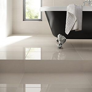 Wickes Arkesia Wall & Floor Tile White 300 x 600mm