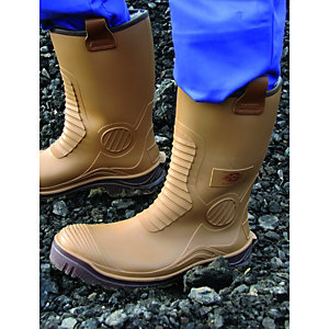Dickies Wellington Boots Tan Size 12