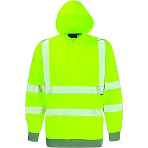 Dickies High Visibility Hooded Sweatshirt Yellow Extra Large