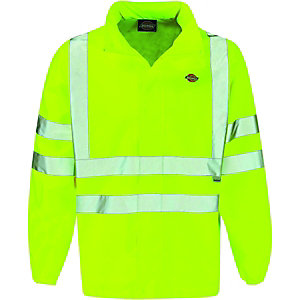 Dickies High Visibility Lightweight Jacket Yellow Extra Large