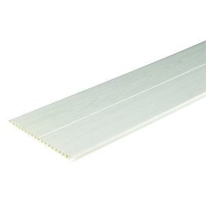 Wickes PVCu White Ash Effect Interior Cladding 250x2500mm PAck 4