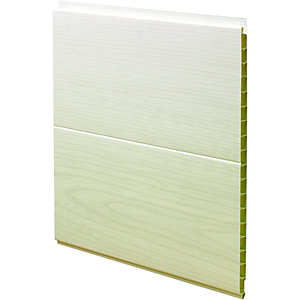 Wickes PVCu White Ash Effect Interior Cladding 250x2500mm