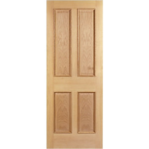 Wickes Denham Internal Fire Door Oak Veneer 4 Panel 1981x686mm