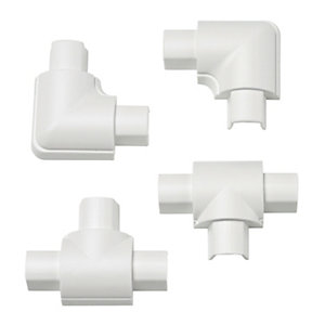 D-Line Micro Accessory Pack Including 2x Equal Tee & 2x Flat Bend White 16x8mm