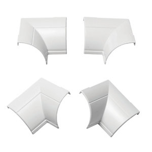 D-Line Clip-over Internal Bend White 22x22mm Pack 4