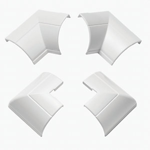D-Line Clip-Over Accessory Pack Including 2x External Bend & 2x Internal Bend White 22x22mm