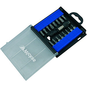 Wickes Screwdriver Bit & Holder Set Pack 17