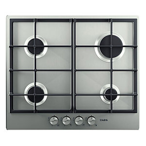 AEG HG654320NM 4 Burner Gas Hob Stainless Steel 600mm