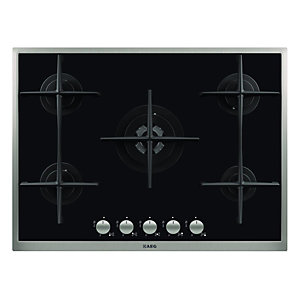 AEG HG795440XB 5 Burner Gas On Glass Hob Black 700mm