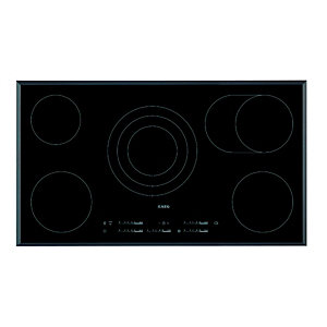 AEG HK955070FB 5 Zone Ceramic Hob Black 900mm