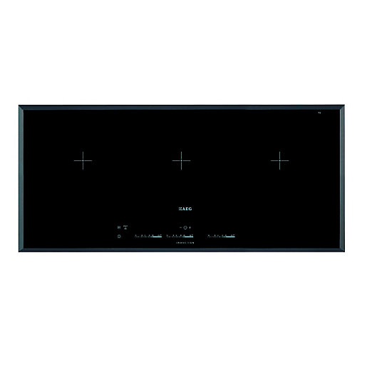 AEG HK953400FB 3 Zone MaxiSense Flexi Induction Hob Black 910mm
