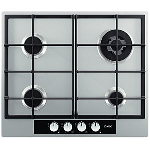 AEG HG654440SM 4 Burner Gas Hob Stainless Steel 600mm